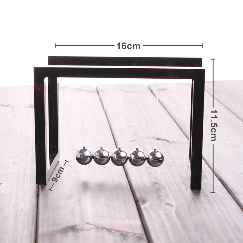Newton-Balls-Wiege-Gleichgewicht-Ball-Newtons-Pendel-Ornamente-Haupt-Dekora-P3M3 Indexbild 5