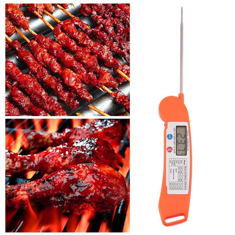 Foldable-Instant-Read-Digital-Kitchen-Cooking-Meat-Grill-Food-Thermometer-OM2D1 thumbnail 7