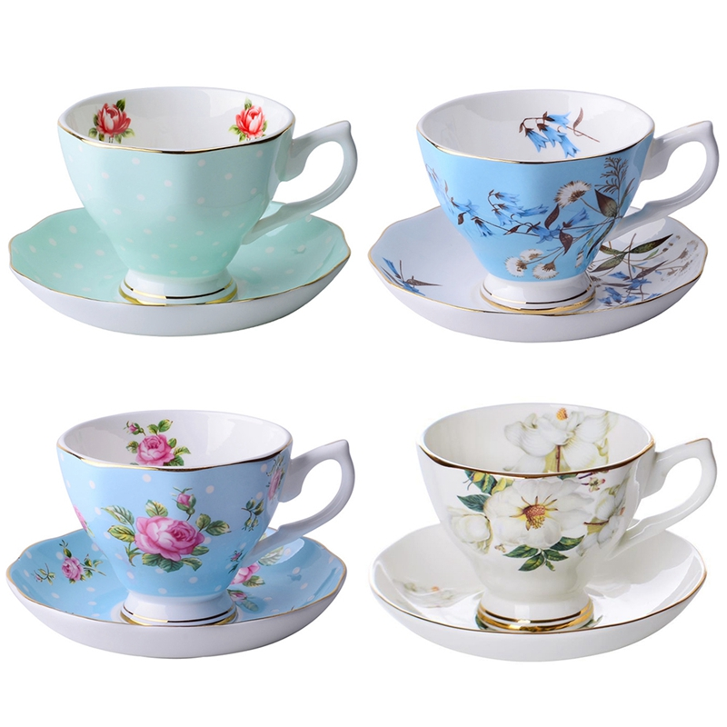 2X-Plato-de-Taza-de-Cafe-de-China-de-Hueso-Fino-Diseno-de-Moda-Divertido-Ta-T4U9 miniatura 27