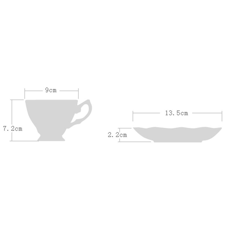 2X-Plato-de-Taza-de-Cafe-de-China-de-Hueso-Fino-Diseno-de-Moda-Divertido-Ta-T4U9 miniatura 30