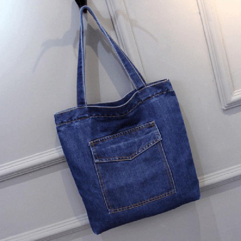 Women-Bag-Large-Capacity-Cowboy-Handbag-Wild-Casual-Canvas-Denim-Shoulder-B-S9R9 thumbnail 3