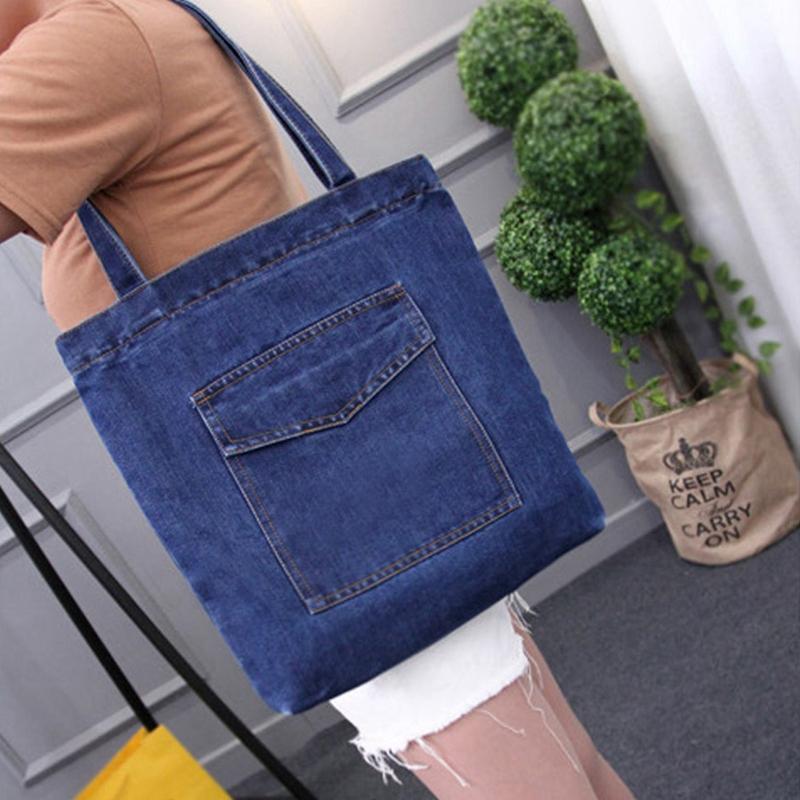 Women-Bag-Large-Capacity-Cowboy-Handbag-Wild-Casual-Canvas-Denim-Shoulder-B-S9R9 thumbnail 5