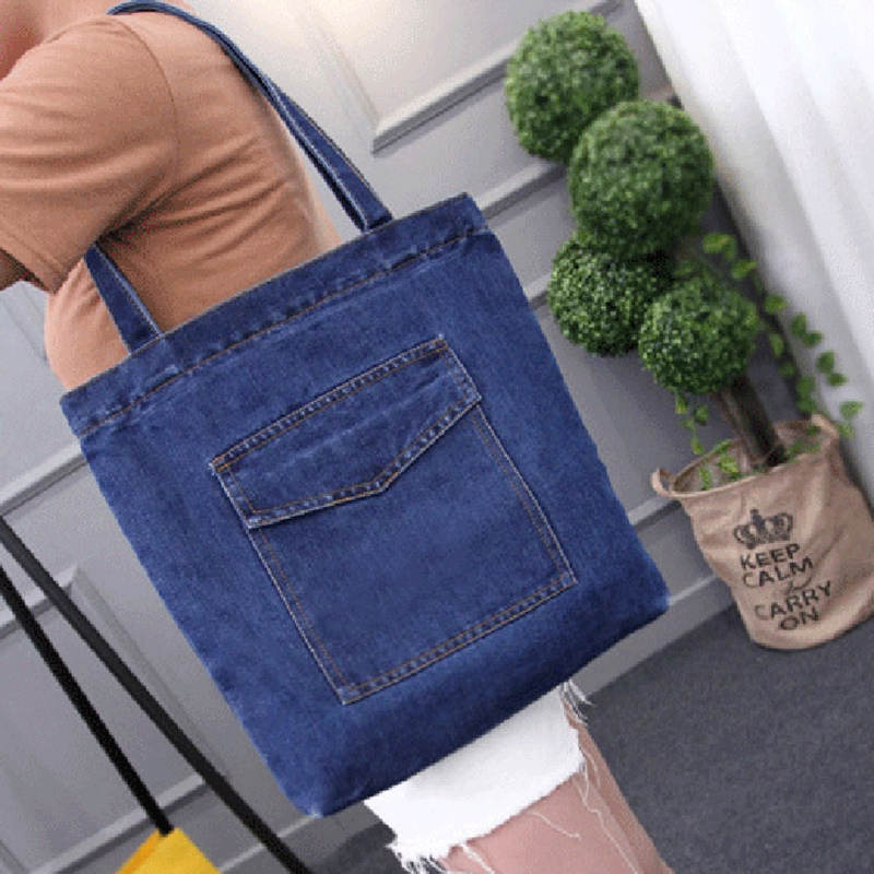 Women-Bag-Large-Capacity-Cowboy-Handbag-Wild-Casual-Canvas-Denim-Shoulder-B-S9R9 thumbnail 6