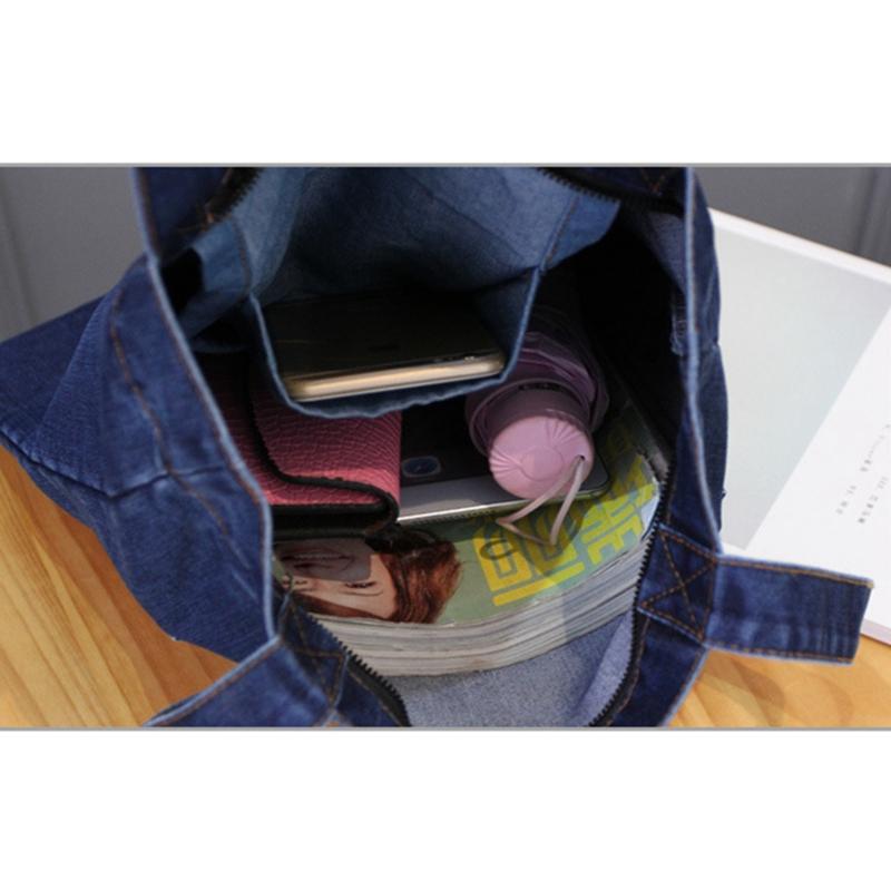 Women-Bag-Large-Capacity-Cowboy-Handbag-Wild-Casual-Canvas-Denim-Shoulder-B-S9R9 thumbnail 8