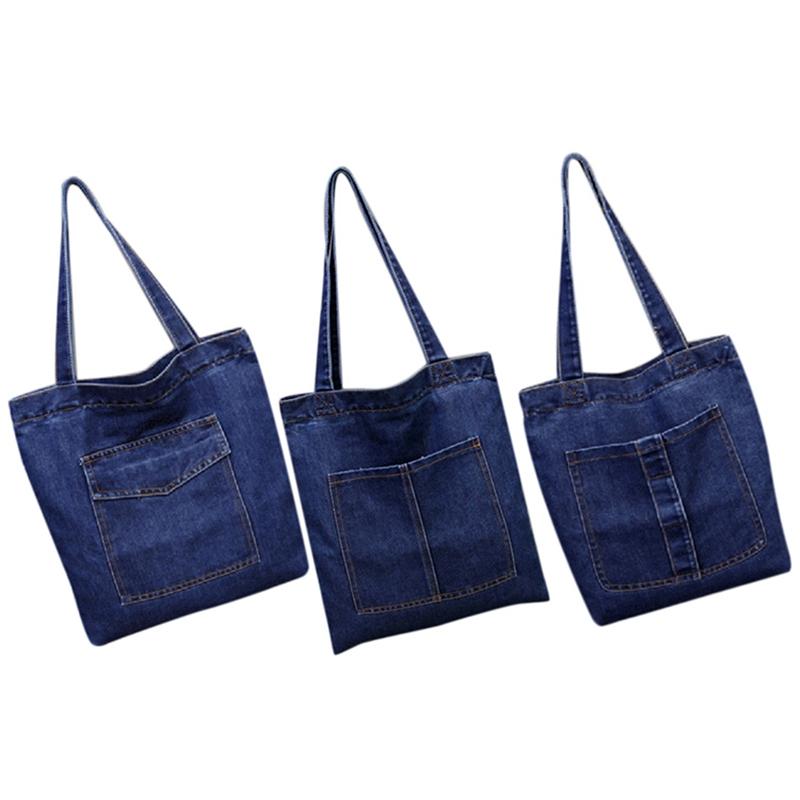 Women-Bag-Large-Capacity-Cowboy-Handbag-Wild-Casual-Canvas-Denim-Shoulder-B-S9R9 thumbnail 9