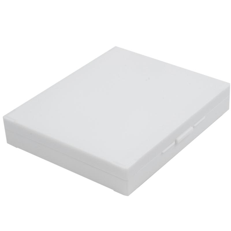 20cm x 16cm Beige Plastic Rectangular 100 Slides Microscope Box