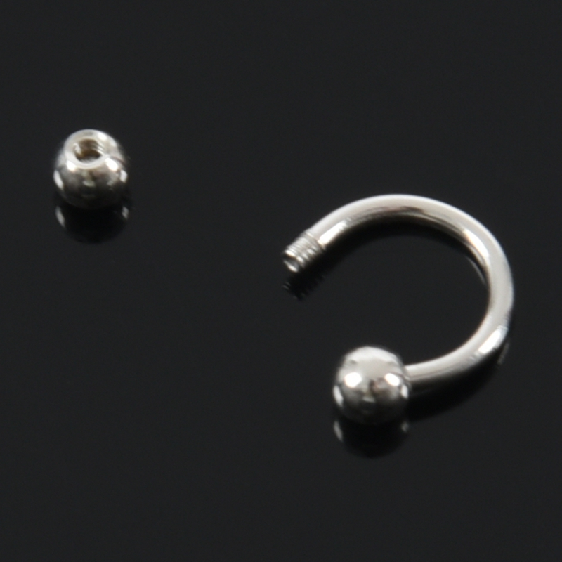 thumbnail 5 - 1X(titanium steel U-ball Eyebrow Ear Lip Nose Tragus Nipple Horseshoe Ring I6K3)