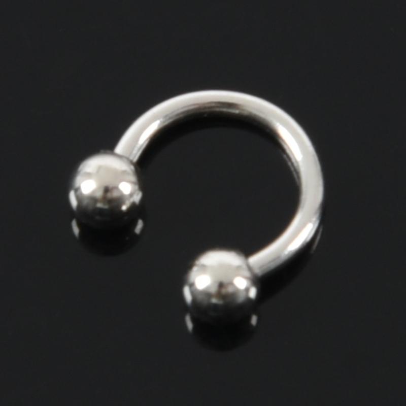 thumbnail 7 - 1X(titanium steel U-ball Eyebrow Ear Lip Nose Tragus Nipple Horseshoe Ring I6K3)