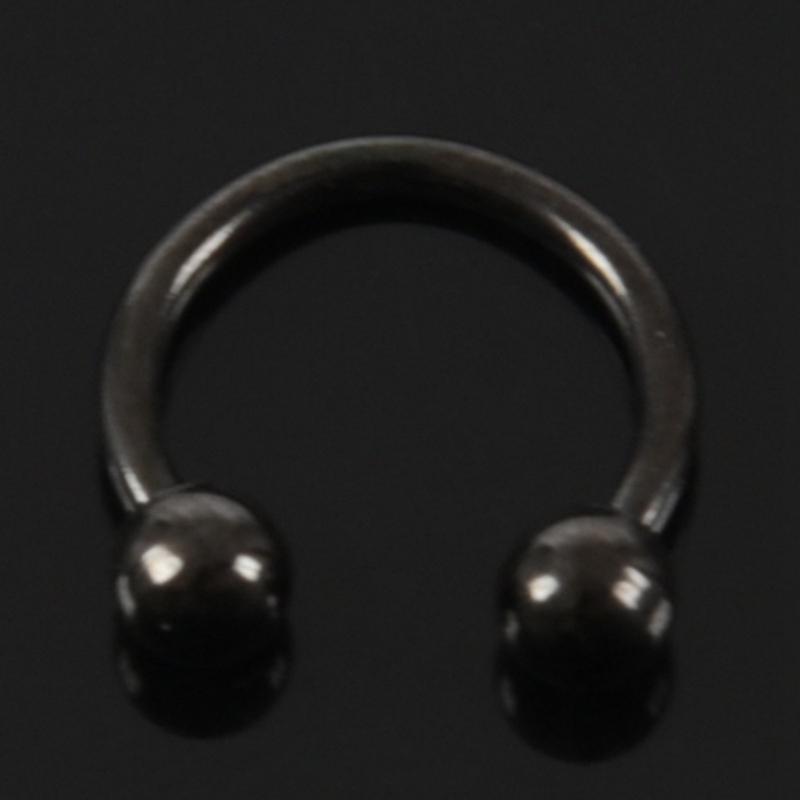 thumbnail 13 - 1X(titanium steel U-ball Eyebrow Ear Lip Nose Tragus Nipple Horseshoe Ring I6K3)