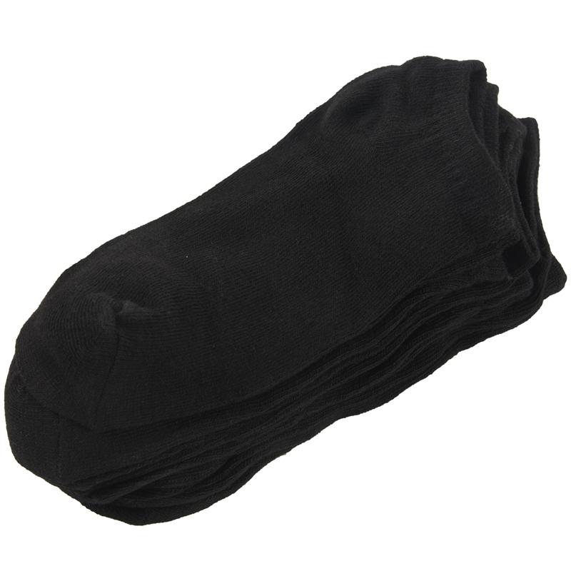 6-paires-de-Chaussettes-de-Sport-en-Coton-Riche-noir-pour-Homme-P6Z2 miniature 7