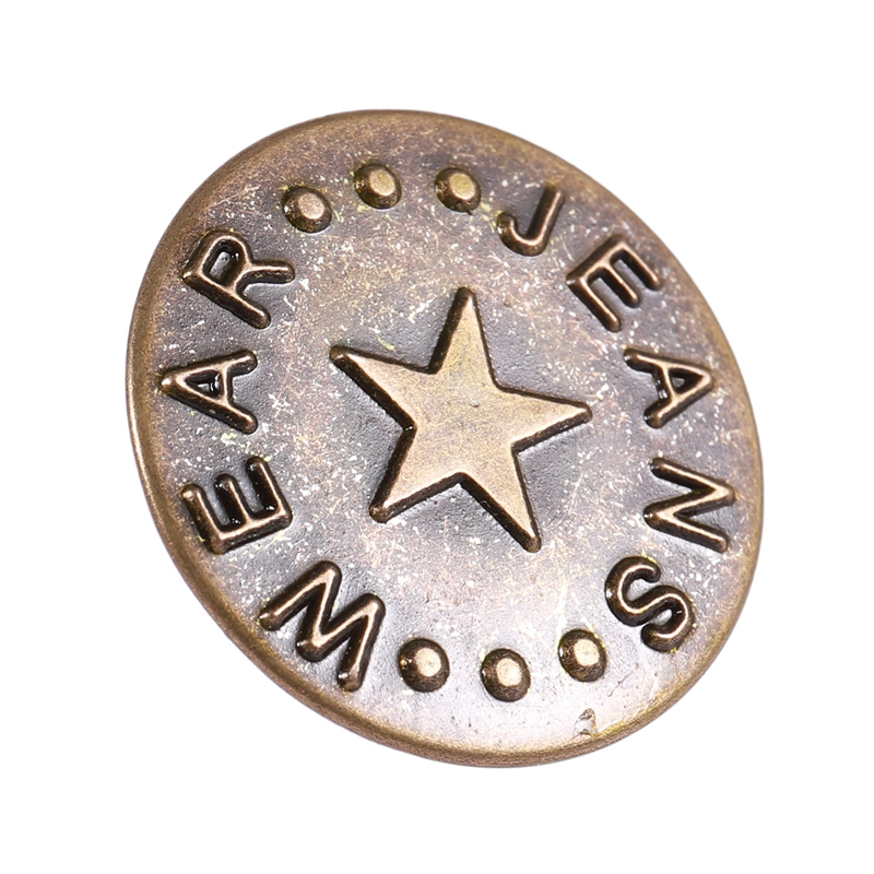 10X Magnet Metall Knopf 14mm Bronze Magnetknopf Basteln M4O5