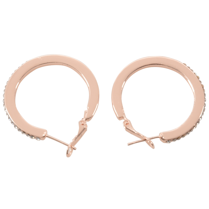 New Stunning Gold Plated Fashion Big Hoop Earings with Crystal 20X Rose Go U4F3