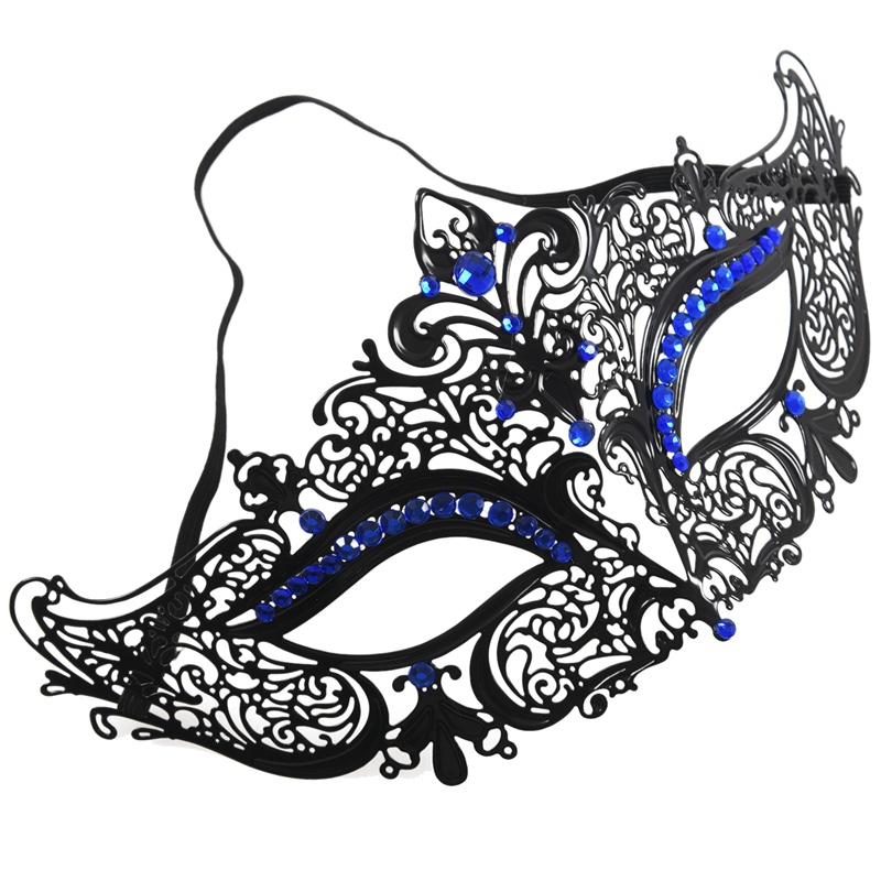 Mascara-de-media-cara-de-fantasma-de-filigrana-de-metal-brillante-para-masc-Y9K5 miniatura 3