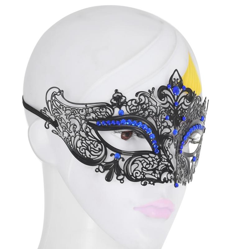 Mascara-de-media-cara-de-fantasma-de-filigrana-de-metal-brillante-para-masc-Y9K5 miniatura 7