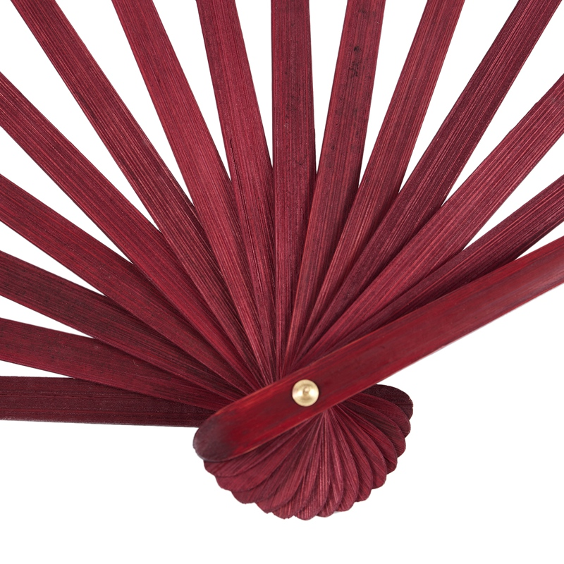 Men-Women-Wood-Handle-Fabric-Folding-Hand-Fan-13-inch-Length-Whtie-D7X4 thumbnail 8