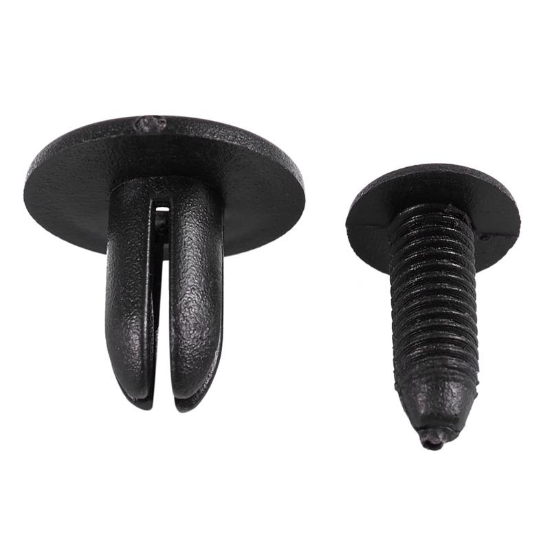 20x 6mm trou noir rivet plastique intérieur