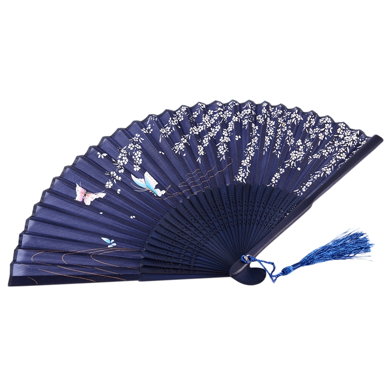 3X-Folding-bamboo-lace-hand-fan-N6J1 thumbnail 8
