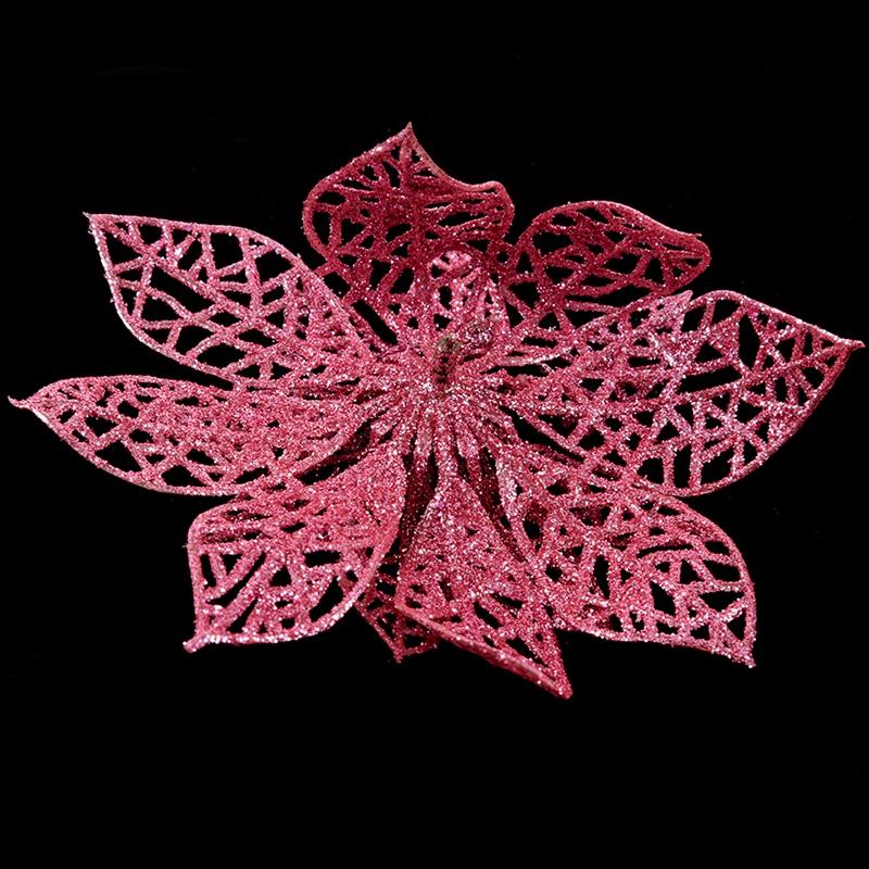 miniature 6 - Decoration-pour-Sapin-de-Noel-elegant-13cm-Fleurs-de-Paillettes-Suspendue-P5U5