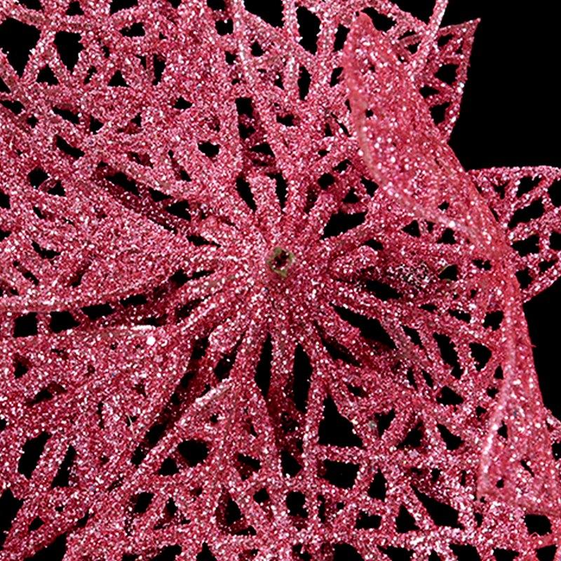 miniature 7 - Decoration-pour-Sapin-de-Noel-elegant-13cm-Fleurs-de-Paillettes-Suspendue-P5U5