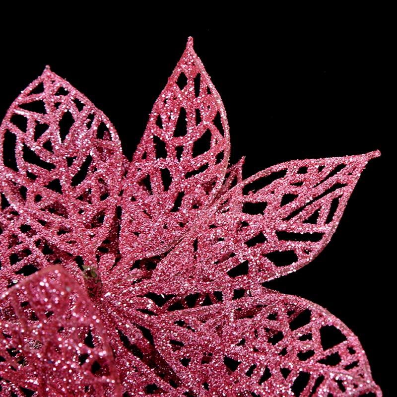 miniature 8 - Decoration-pour-Sapin-de-Noel-elegant-13cm-Fleurs-de-Paillettes-Suspendue-P5U5