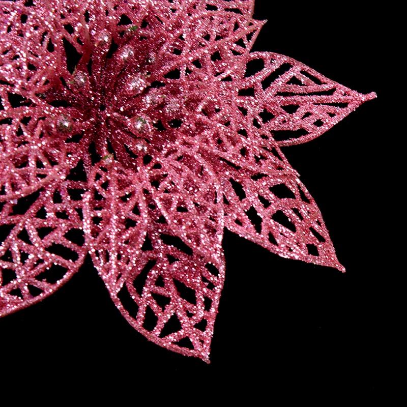 miniature 9 - Decoration-pour-Sapin-de-Noel-elegant-13cm-Fleurs-de-Paillettes-Suspendue-P5U5