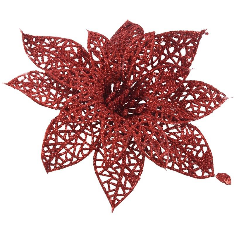 miniature 11 - Decoration-pour-Sapin-de-Noel-elegant-13cm-Fleurs-de-Paillettes-Suspendue-P5U5