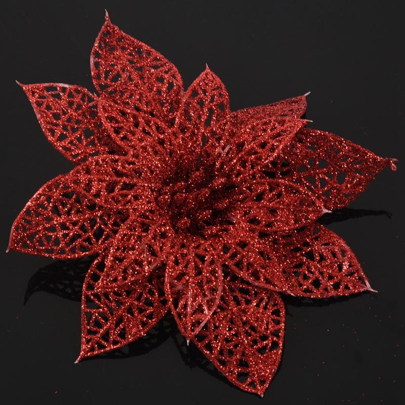 miniature 12 - Decoration-pour-Sapin-de-Noel-elegant-13cm-Fleurs-de-Paillettes-Suspendue-P5U5