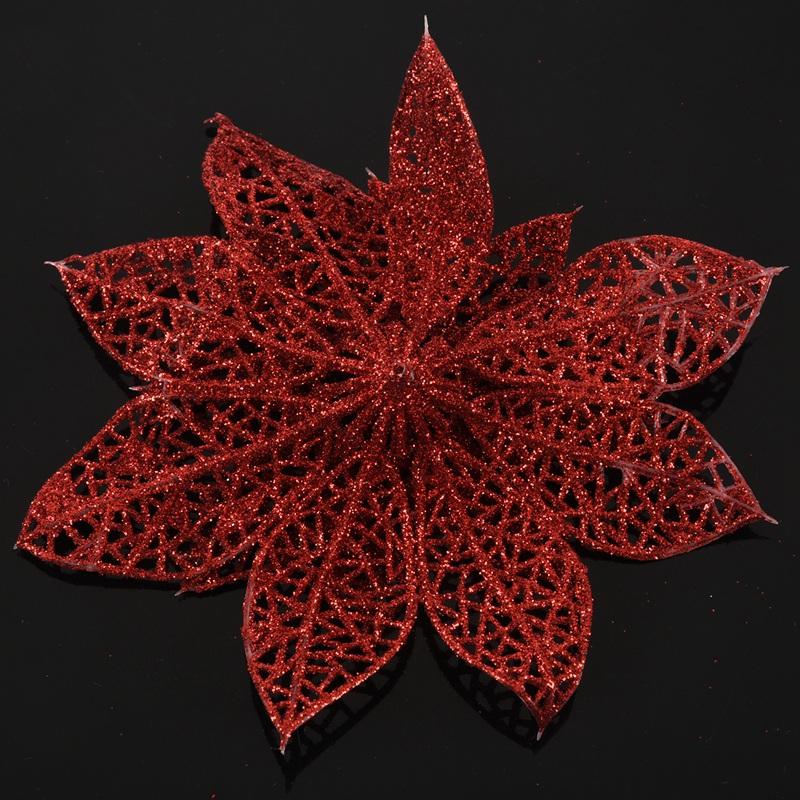 miniature 13 - Decoration-pour-Sapin-de-Noel-elegant-13cm-Fleurs-de-Paillettes-Suspendue-P5U5