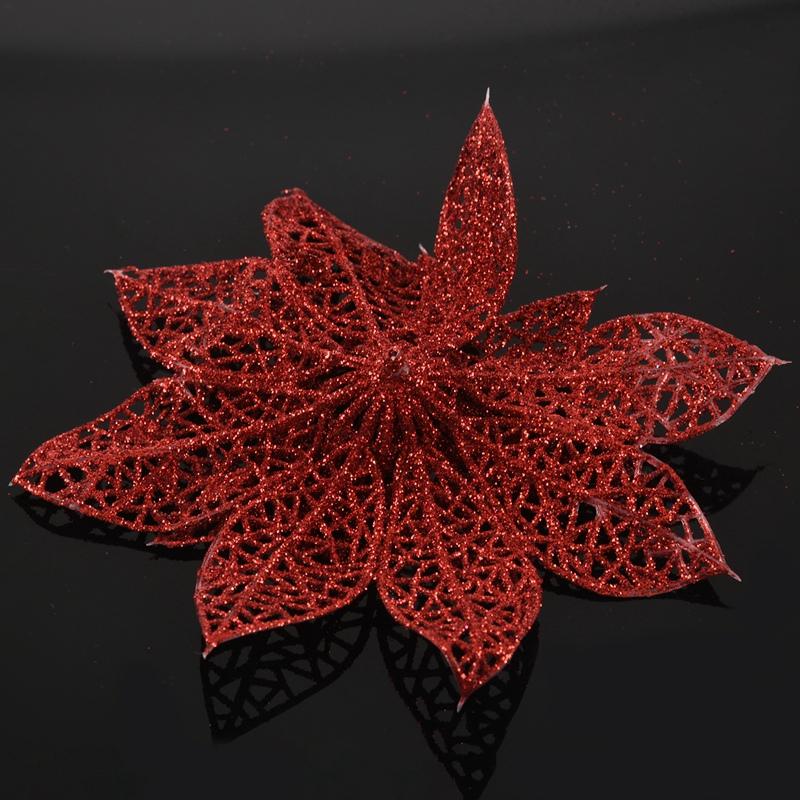 miniature 14 - Decoration-pour-Sapin-de-Noel-elegant-13cm-Fleurs-de-Paillettes-Suspendue-P5U5