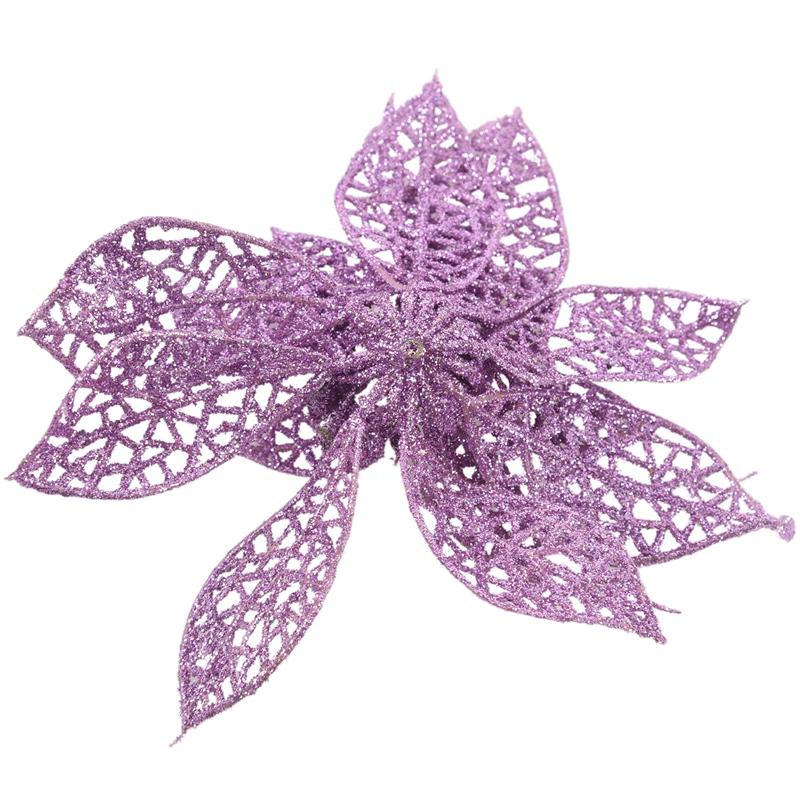 miniature 20 - Decoration-pour-Sapin-de-Noel-elegant-13cm-Fleurs-de-Paillettes-Suspendue-P5U5