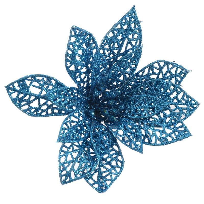 miniature 27 - Decoration-pour-Sapin-de-Noel-elegant-13cm-Fleurs-de-Paillettes-Suspendue-P5U5