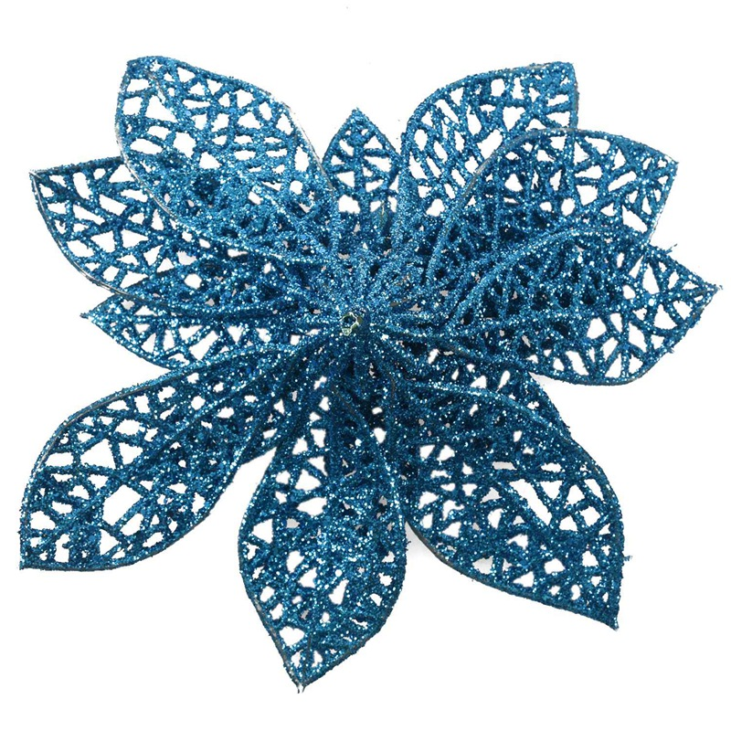 miniature 28 - Decoration-pour-Sapin-de-Noel-elegant-13cm-Fleurs-de-Paillettes-Suspendue-P5U5