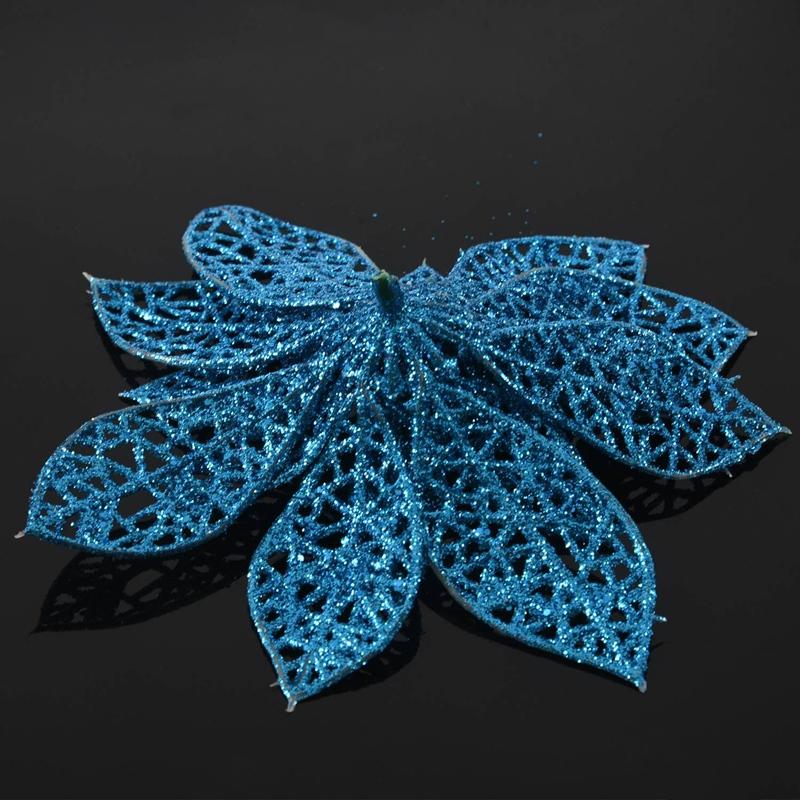 miniature 31 - Decoration-pour-Sapin-de-Noel-elegant-13cm-Fleurs-de-Paillettes-Suspendue-P5U5