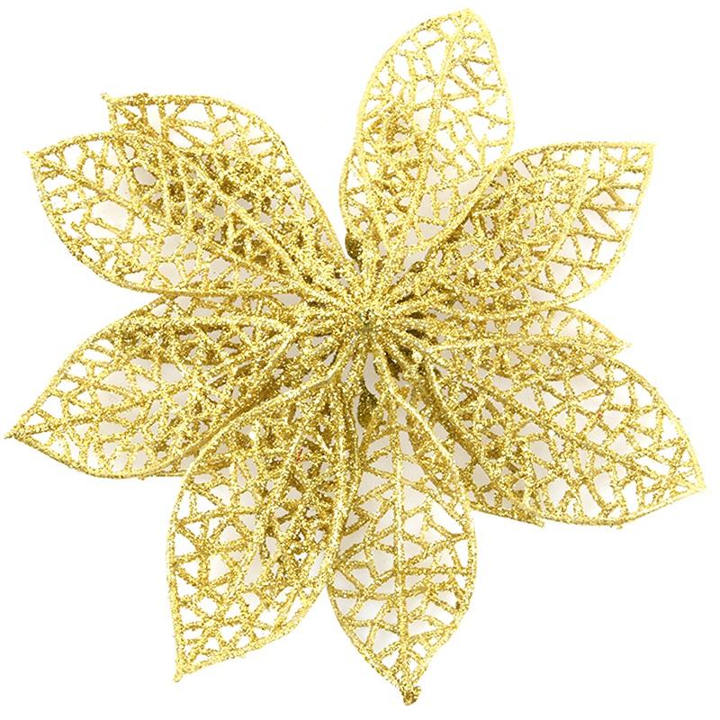 miniature 36 - Decoration-pour-Sapin-de-Noel-elegant-13cm-Fleurs-de-Paillettes-Suspendue-P5U5