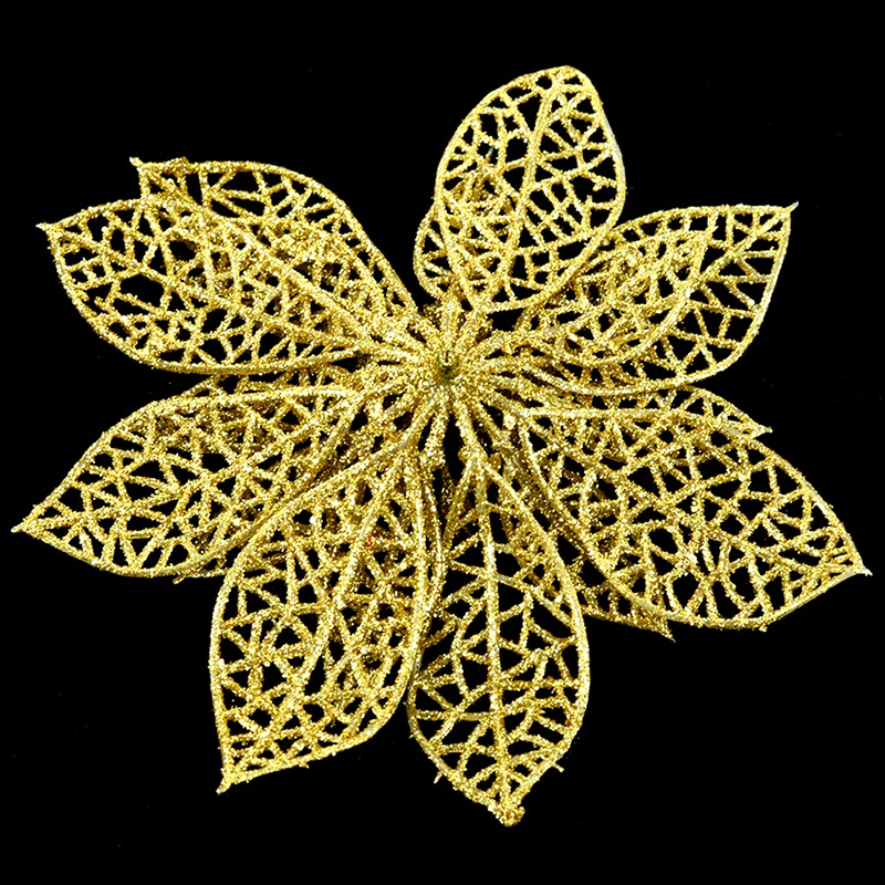 miniature 37 - Decoration-pour-Sapin-de-Noel-elegant-13cm-Fleurs-de-Paillettes-Suspendue-P5U5