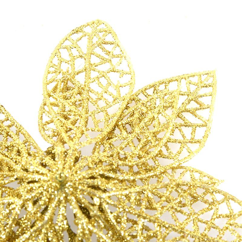 miniature 41 - Decoration-pour-Sapin-de-Noel-elegant-13cm-Fleurs-de-Paillettes-Suspendue-P5U5