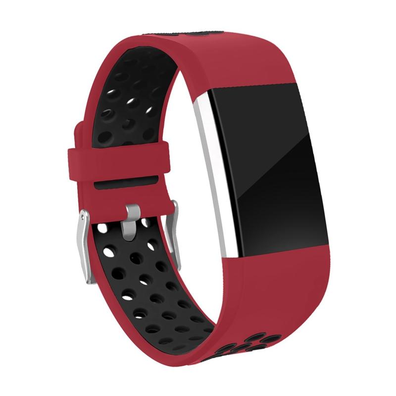 1X-Correa-de-Reloj-de-Silicona-para-Fitbit-Charge-2-Smart-Band-para-Fitbit-L6M9 miniatura 4