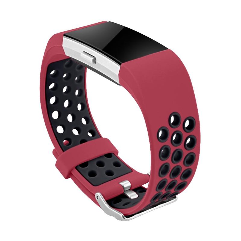 1X-Correa-de-Reloj-de-Silicona-para-Fitbit-Charge-2-Smart-Band-para-Fitbit-L6M9 miniatura 5