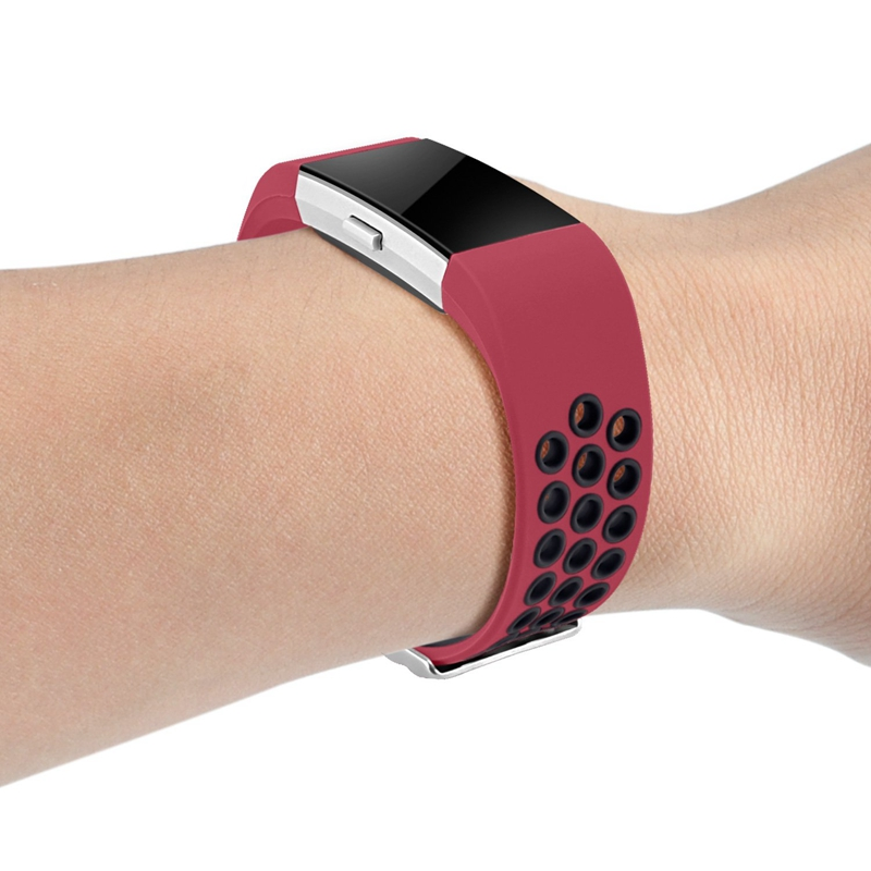 1X-Correa-de-Reloj-de-Silicona-para-Fitbit-Charge-2-Smart-Band-para-Fitbit-L6M9 miniatura 9