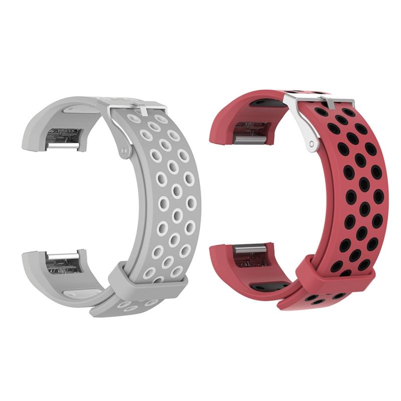 1X-Correa-de-Reloj-de-Silicona-para-Fitbit-Charge-2-Smart-Band-para-Fitbit-L6M9 miniatura 11