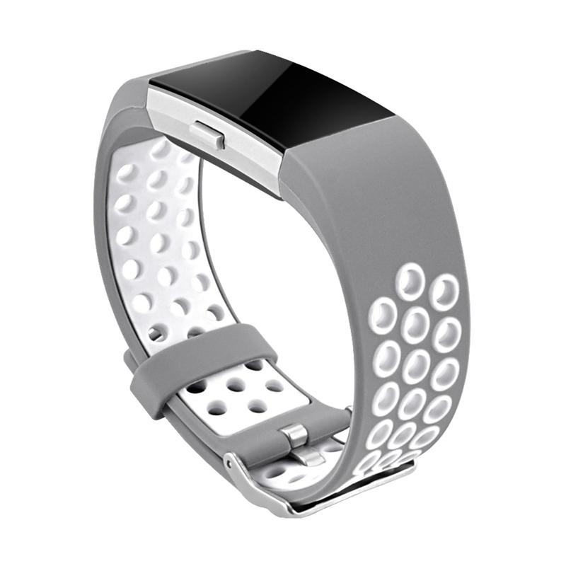 1X-Correa-de-Reloj-de-Silicona-para-Fitbit-Charge-2-Smart-Band-para-Fitbit-L6M9 miniatura 17