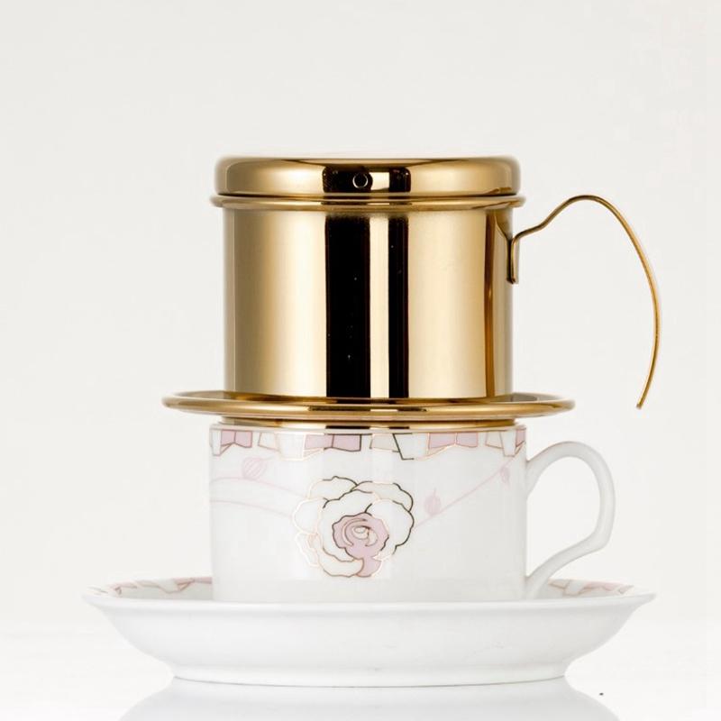 Portable-Coffee-Maker-Stainless-Steel-Mini-Maker-Drip-Coffee-Pot-Filter-Tea-E4R9 thumbnail 7