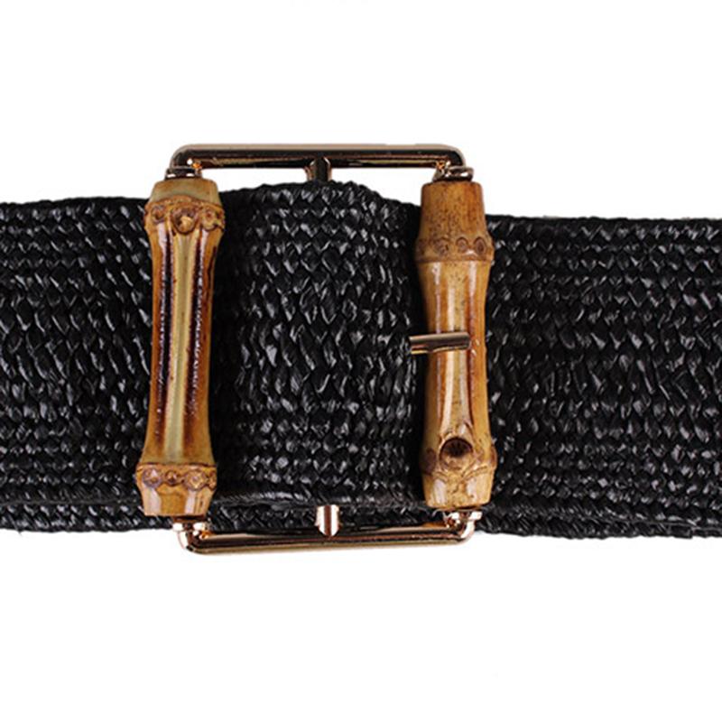 ReTro-Tricote-Cire-Corde-Tail-le-Corde-Femmes-Bambou-Bouc-le-Ceinture-Dames-J2B3 miniature 12