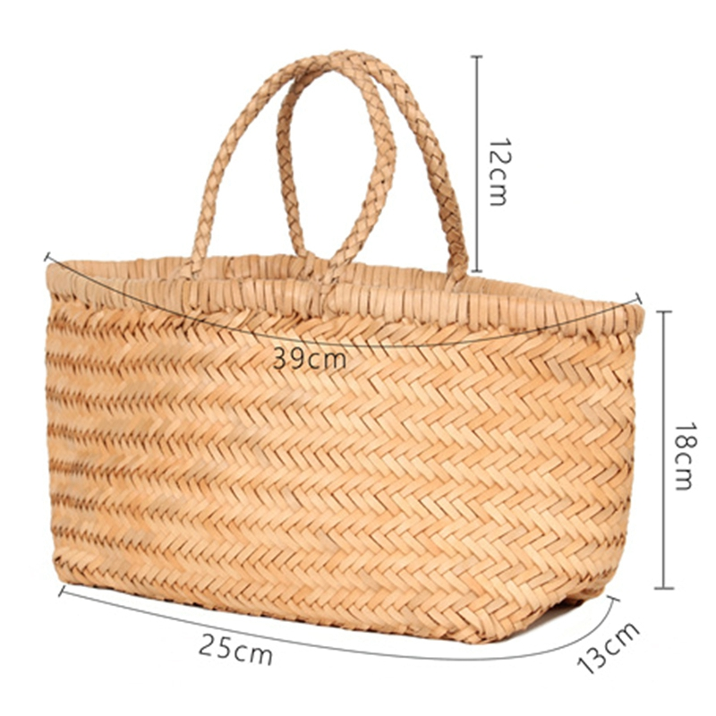 Women-039-S-Genuine-Leather-Woven-Shoulder-Bag-Cool-Weaving-Bucket-Handbags-Fre-O1Q5 thumbnail 11