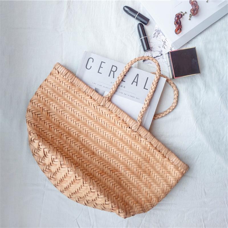 Women-039-S-Genuine-Leather-Woven-Shoulder-Bag-Cool-Weaving-Bucket-Handbags-Fre-O1Q5 thumbnail 16
