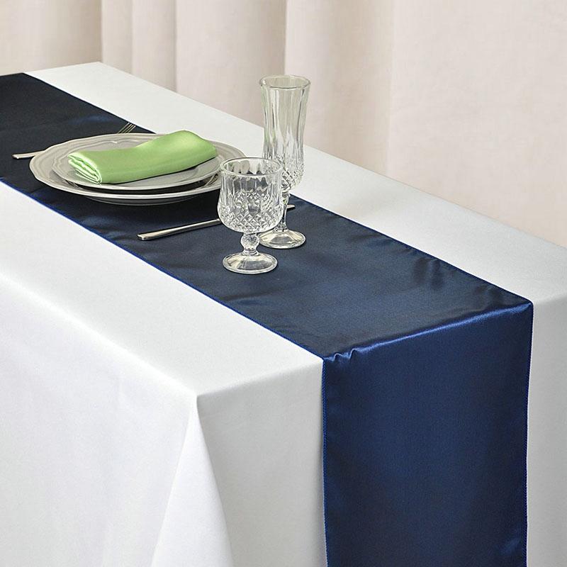 10 pcs 250cm*30cm Lavender Satin Table Top Runners Wedding Party Decoration UK