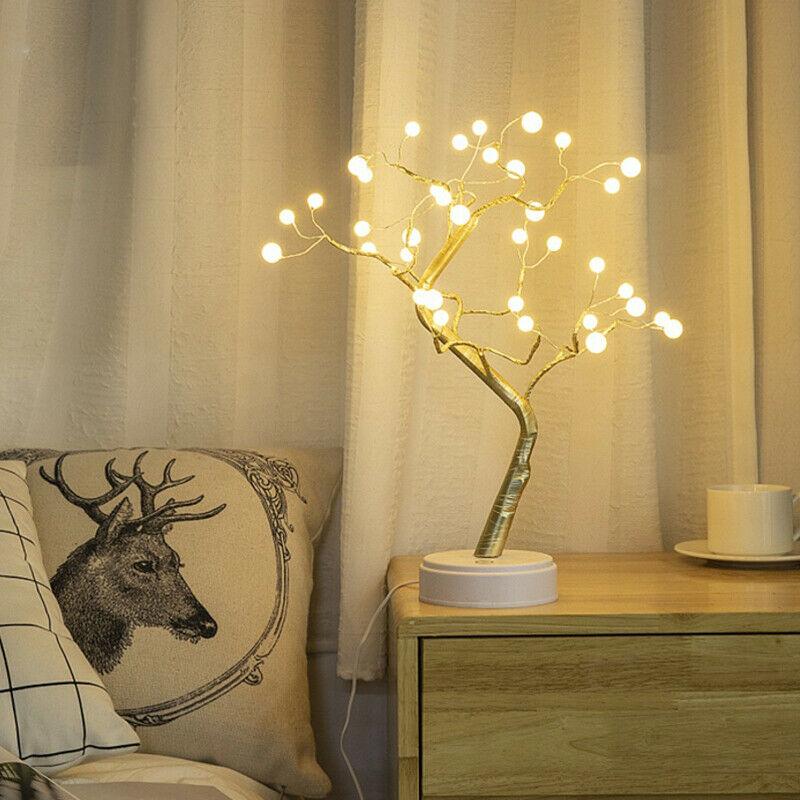 Led-Warm-White-Tree-Light-Tree-Night-Light-Lamp-Press-Switch-Control-Diy-Ni-I6K2 thumbnail 6