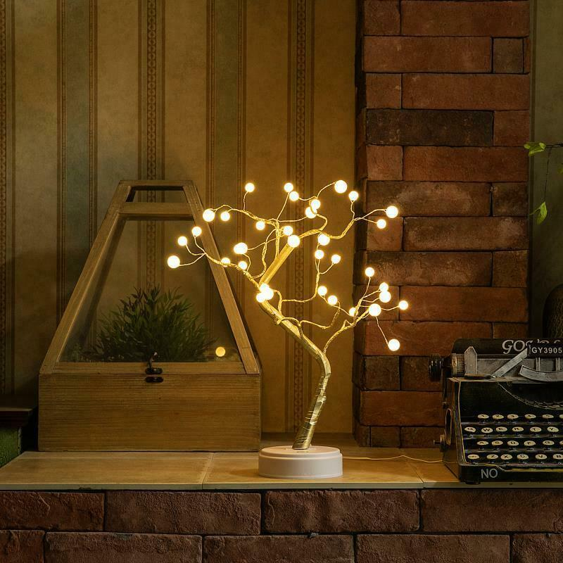 Led-Warm-White-Tree-Light-Tree-Night-Light-Lamp-Press-Switch-Control-Diy-Ni-I6K2 thumbnail 7