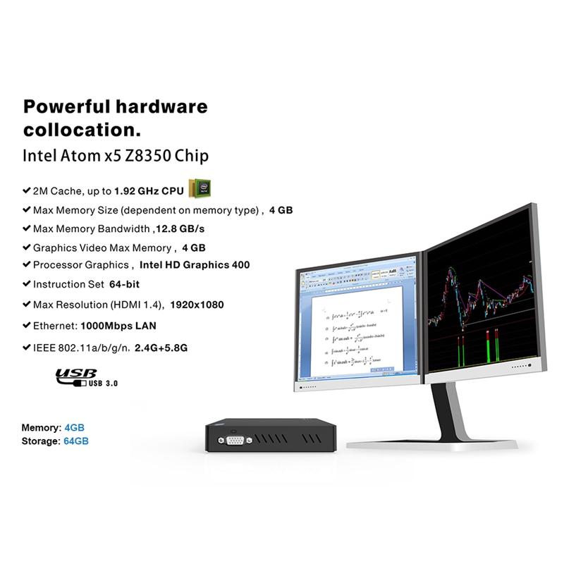 Mini-PC-Z83V-Intel-Atom-X5-Z8350-Computadora-de-Oficina-4Gb-Ddr3-64Gb-Rom-4-M7O2 miniatura 4