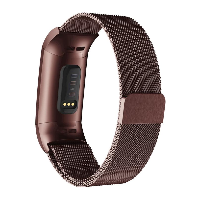 Bracelet-de-Montre-Intelligente-Bracelet-en-Acier-Inoxydab-le-Milanais-Fitn-M5U8 miniature 11